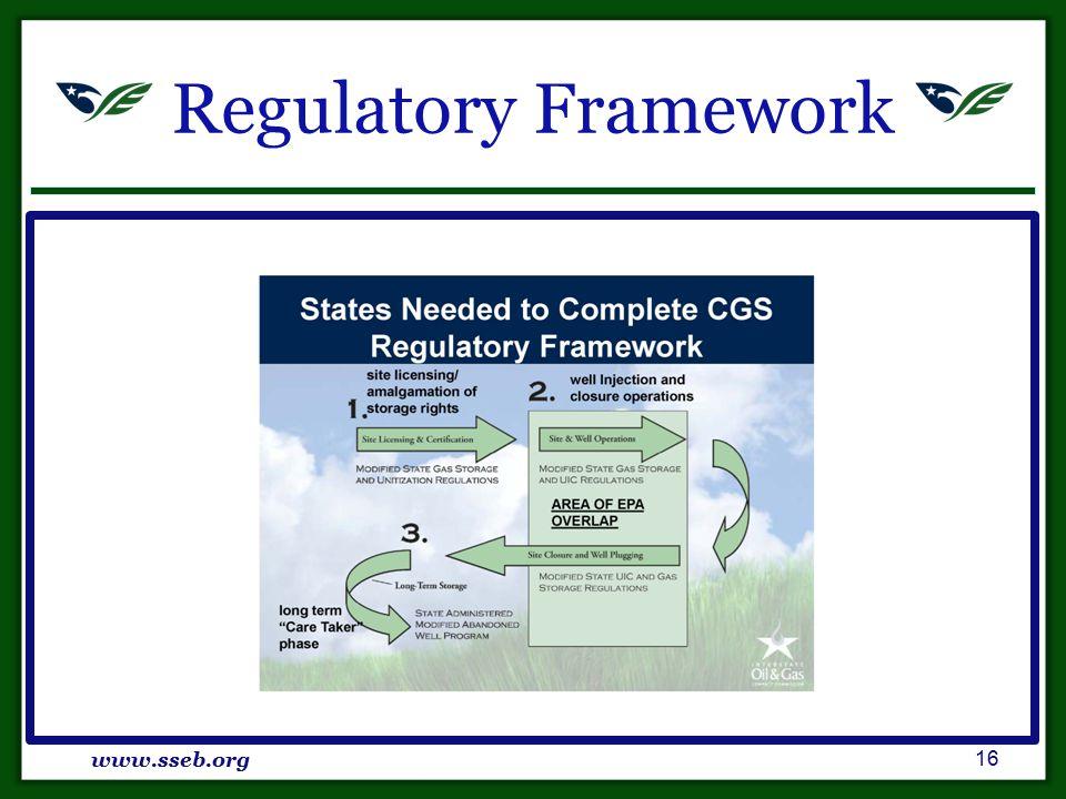 Regulatory Framework www.sseb.org 16