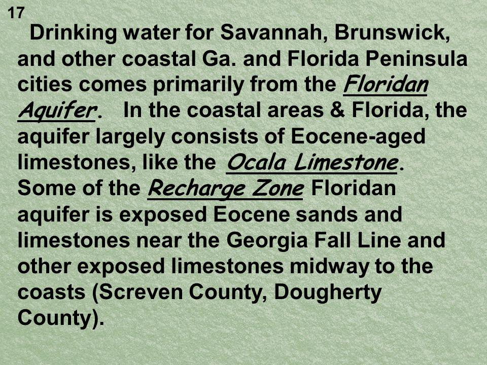 Drinking water for Savannah, Brunswick, and other coastal Ga.