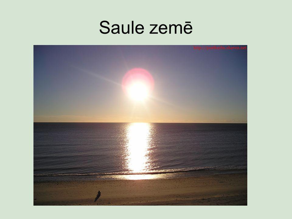 Saule zemē