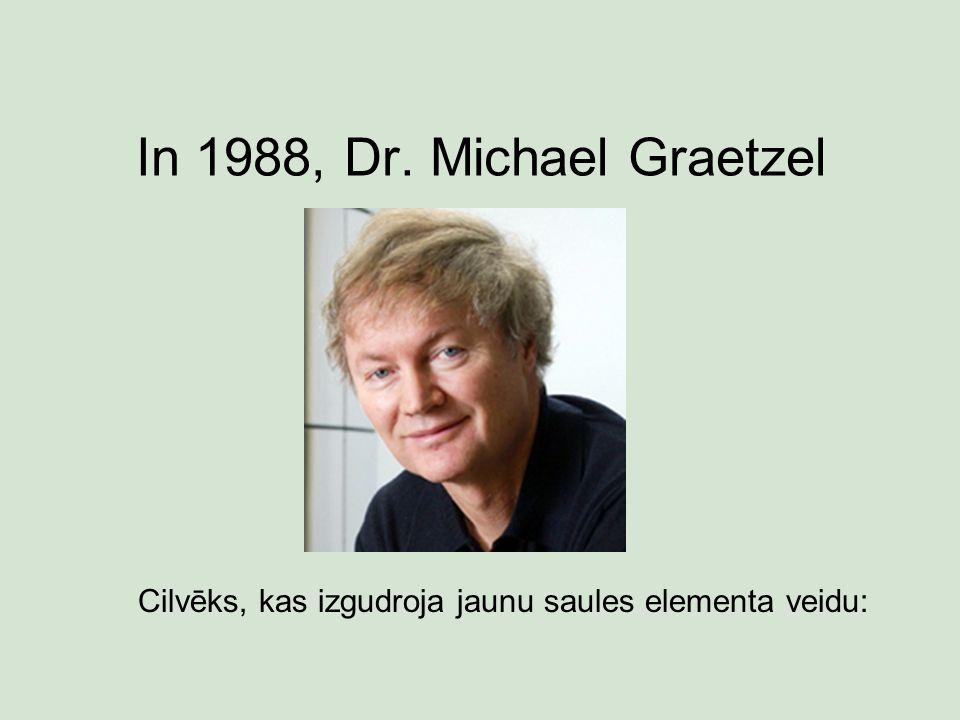 In 1988, Dr. Michael Graetzel Cilvēks, kas izgudroja jaunu saules elementa veidu: