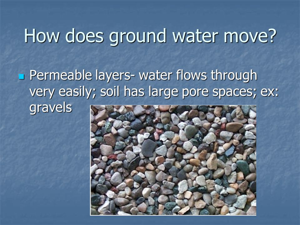 How does ground water move.