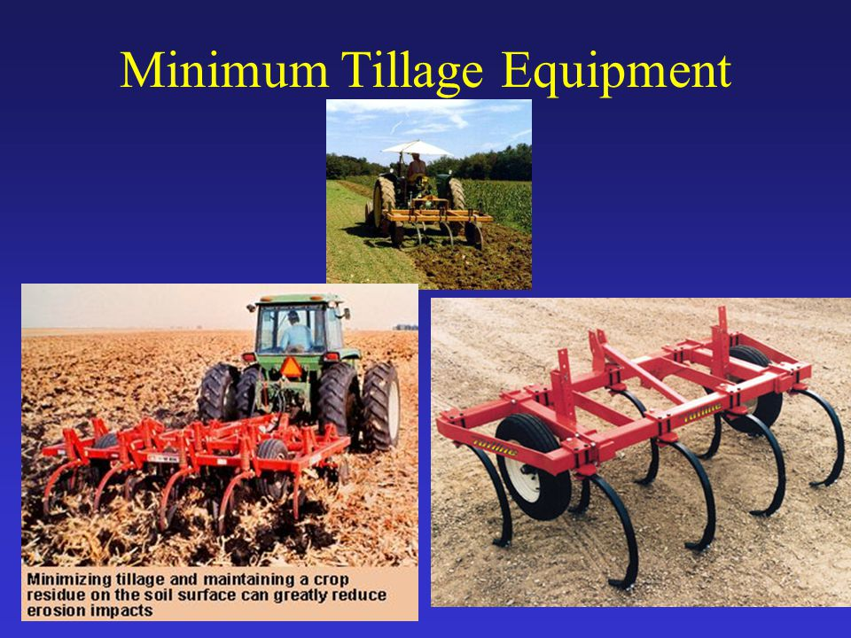 Minimum Tillage Equipment