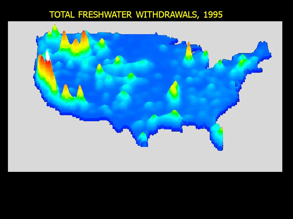 TOTAL FRESHWATER WITHDRAWALS, 1995
