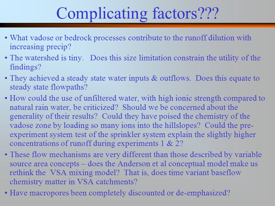 Complicating factors .