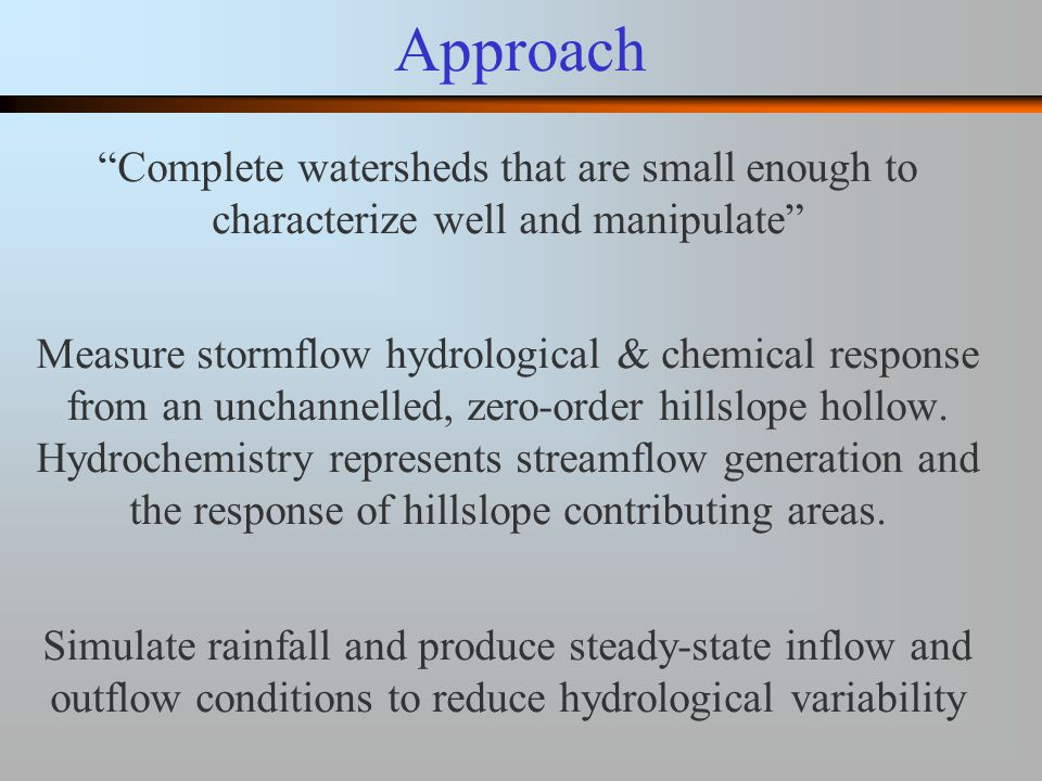 Experiments 1 & 2 Date Ca 2+ Figure 4 concentration Stable chemistry during steady inflow Variable chemistry during hydrograph rise Variable chemistry during hydrograph fall Anomalous spike??.