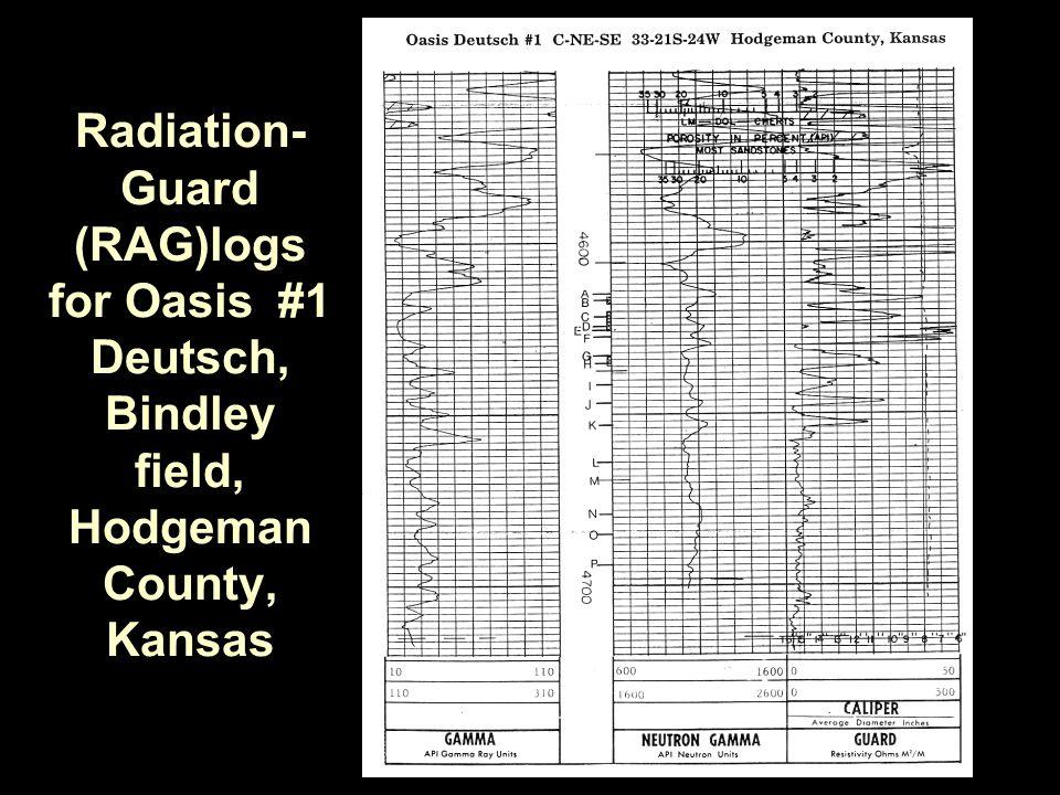 Radiation- Guard (RAG)logs for Oasis #1 Deutsch, Bindley field, Hodgeman County, Kansas