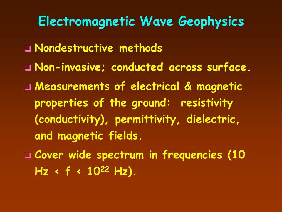 Geophysical Methods Electromagnetic Wave Techniques