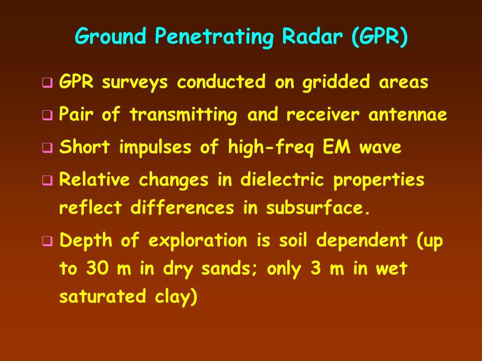 Electromagnetic Wave Geophysics  Surface Mapping Techniques: Ground Penetrating Radar (GPR) Electrical Resistivity (ER) Surveys Electromagnetic Condu