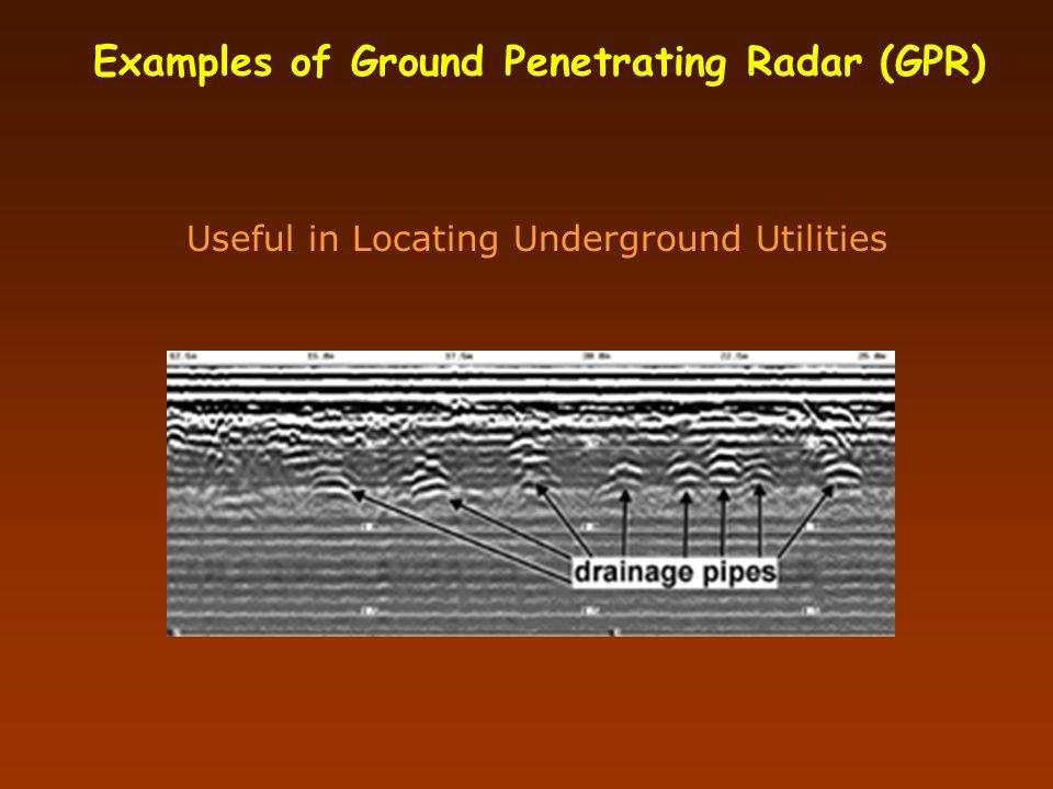 Illustrative Results of Ground Penetrating Radar (GPR) Geostratigraphy