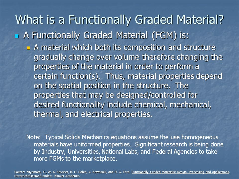 What is a Functionally Graded Material.