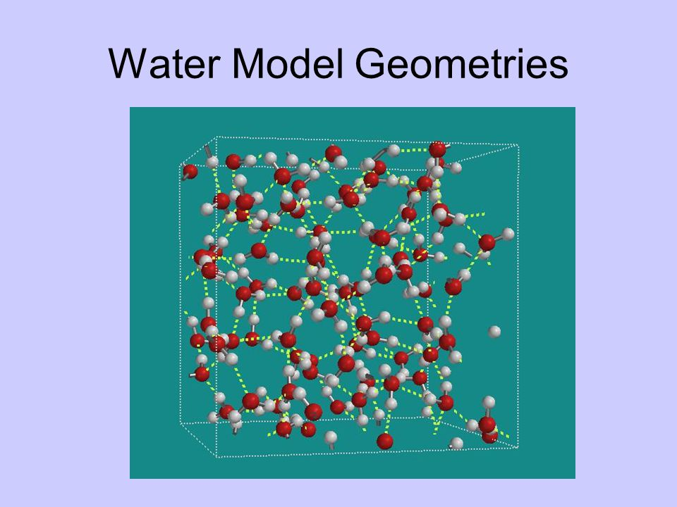 Water Model Geometries