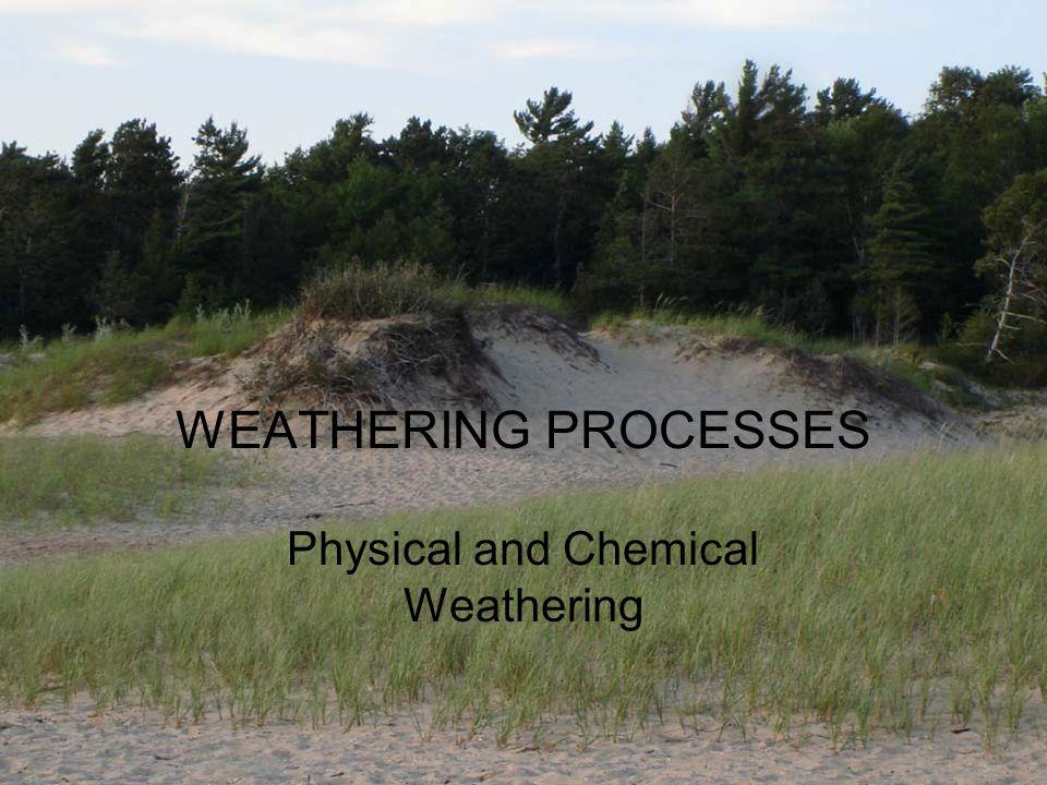 Weathering: in-situ breakdown of material