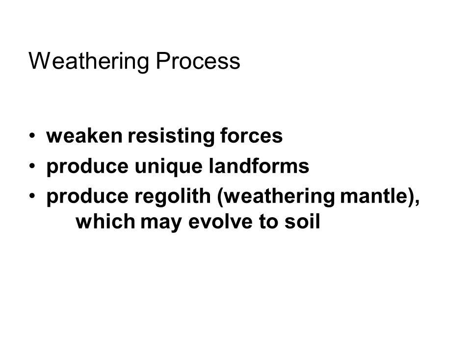 CHEMICAL WEATHERING result: –granular disintegration, –spheroidal weathering, –weathering pits, karst Photo right: N.K.