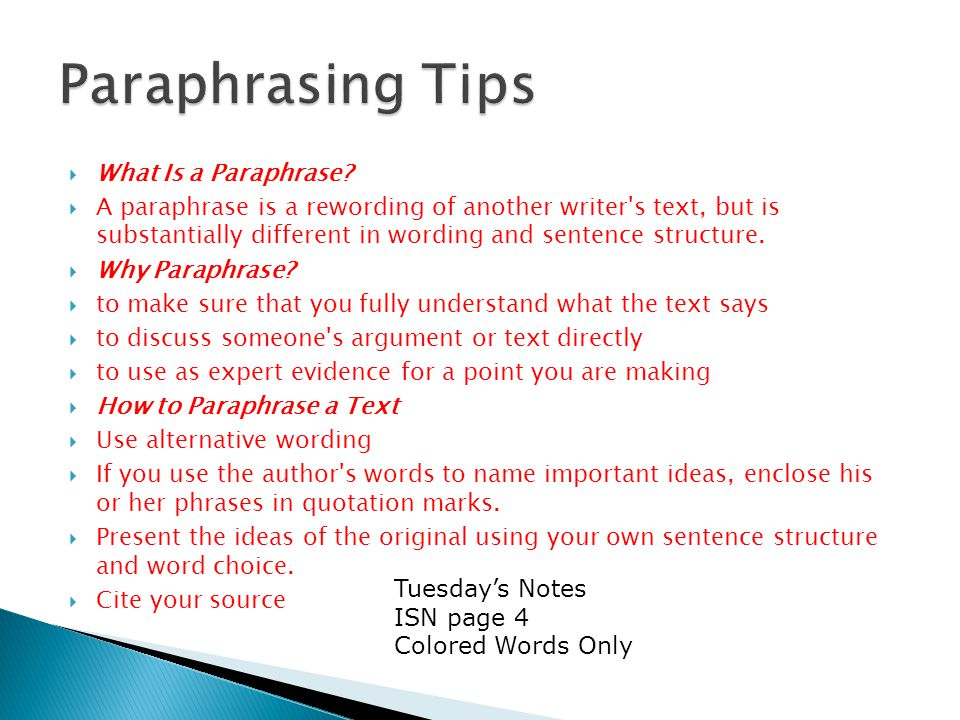  What Is a Paraphrase.