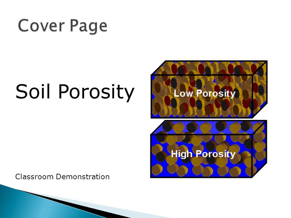 Soil Porosity Classroom Demonstration