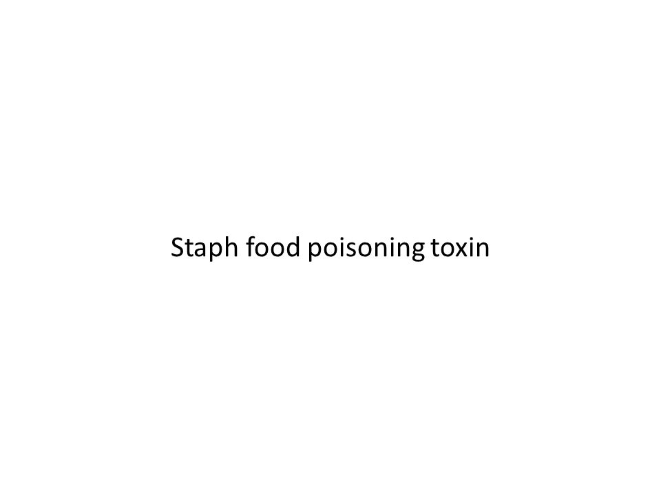 Staph food poisoning toxin