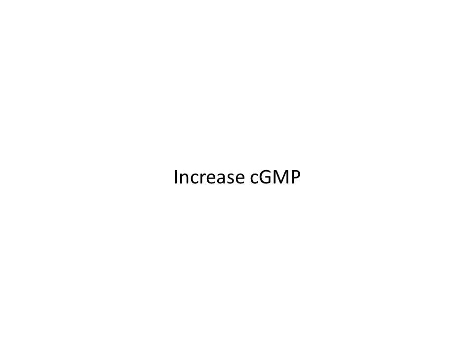 Increase cGMP