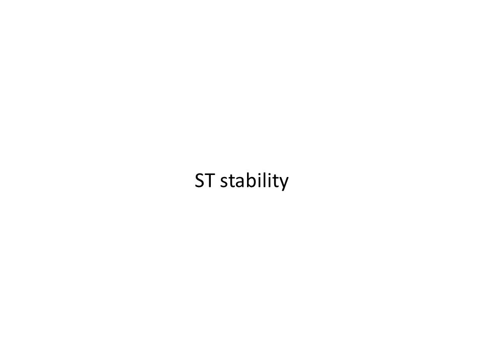 ST stability