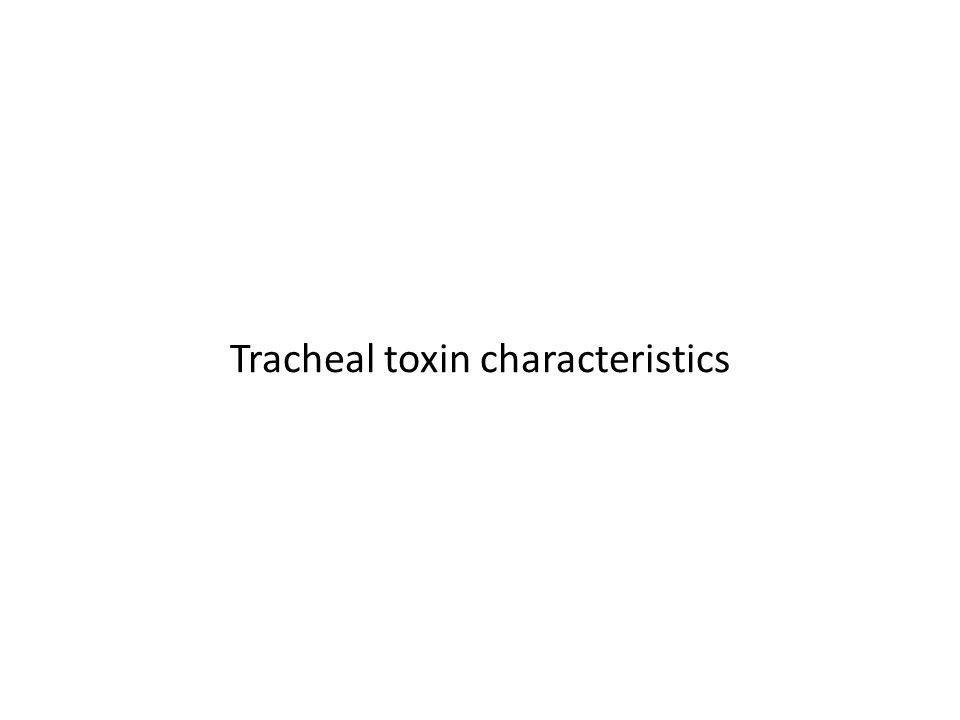 Tracheal toxin characteristics