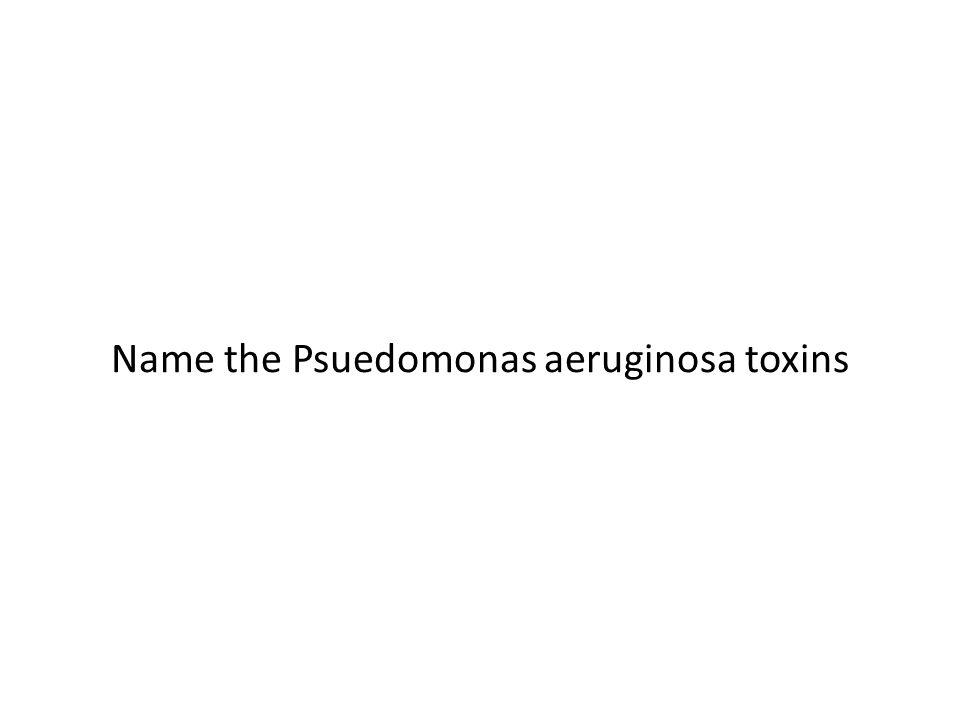 Name the Psuedomonas aeruginosa toxins