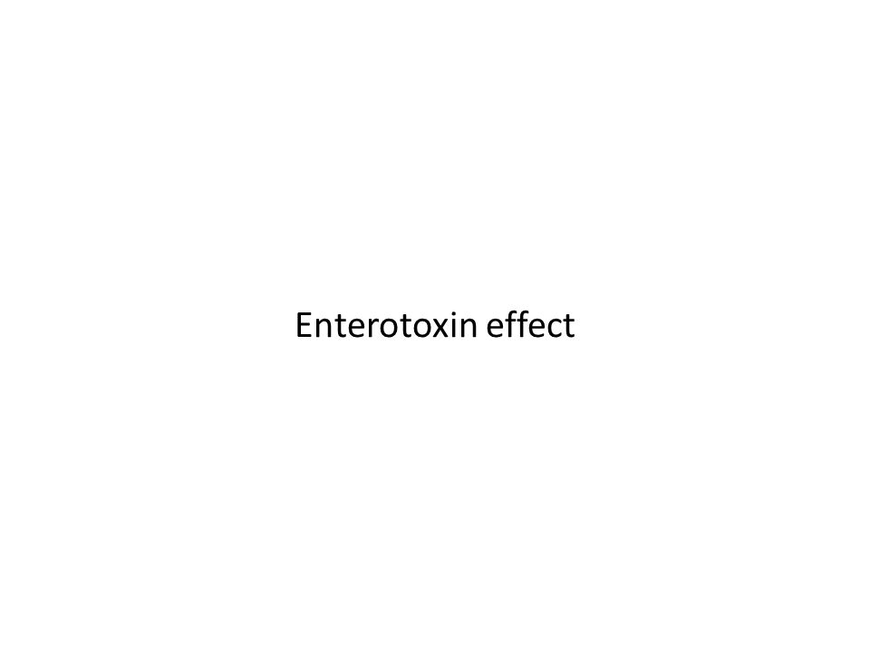Enterotoxin effect