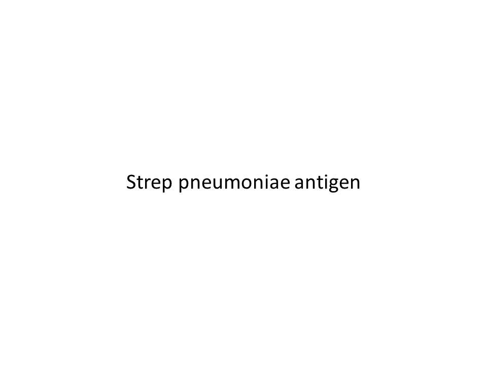 Strep pneumoniae antigen