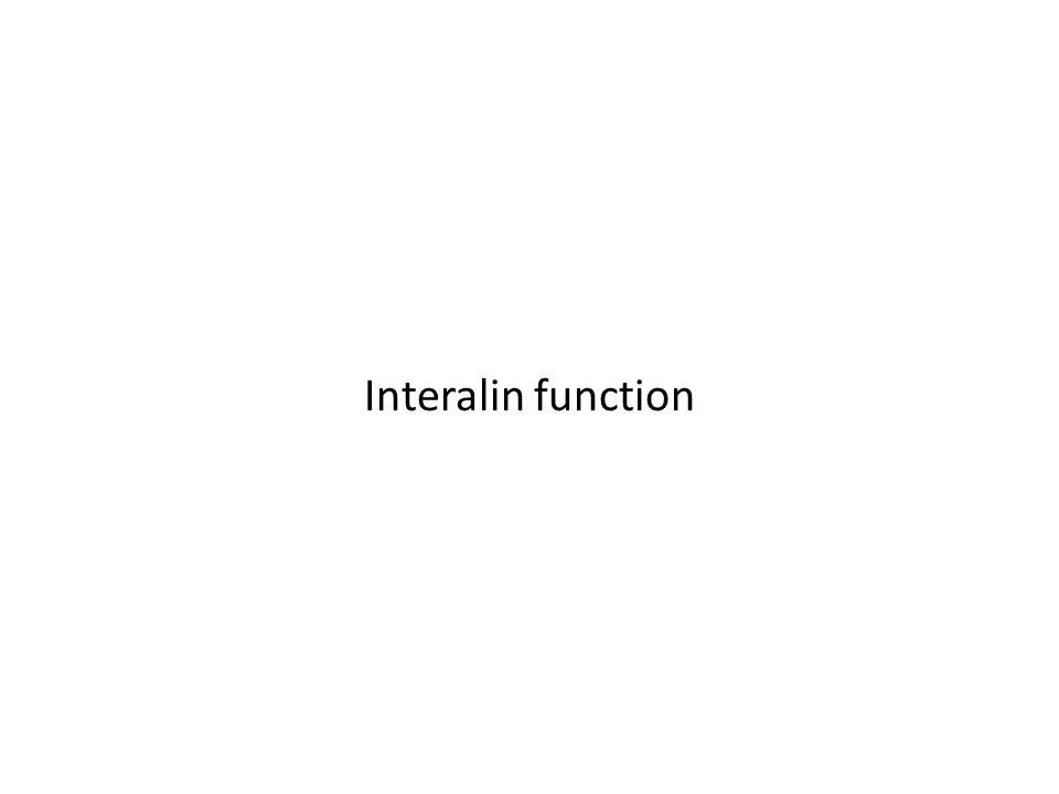 Interalin function