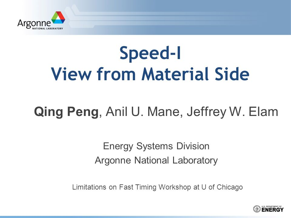Speed-I View from Material Side Qing Peng, Anil U.