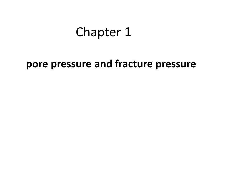Pore Pressure vs.