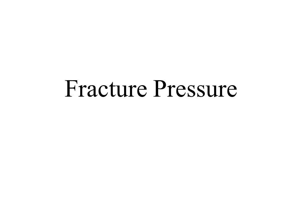 Fracture Pressure