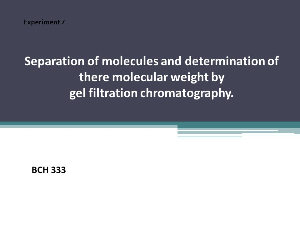 General information: -The pore size determines the range of molecular weight in which fractionation occurs.