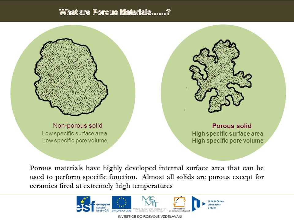 Porous materials have highly developed internal surface area that can be used to perform specific function.