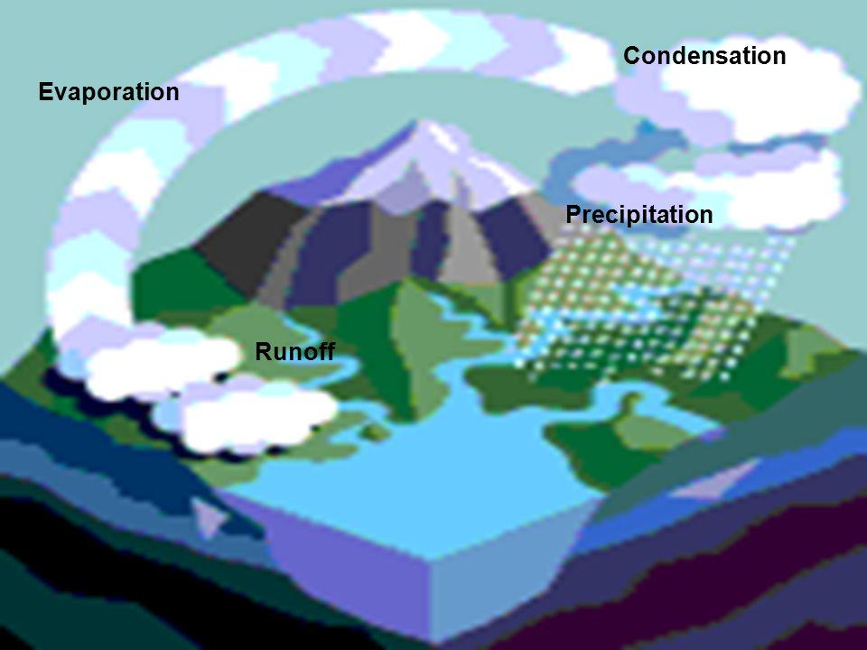 Evaporation Condensation Precipitation Runoff