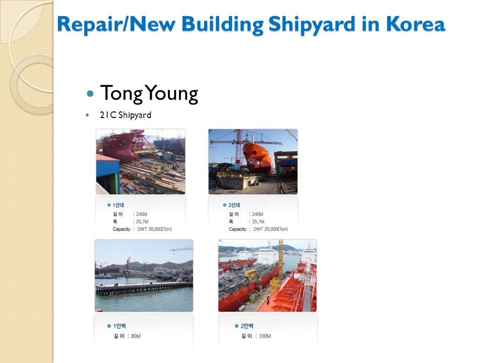 Tong Young 21C Shipyard Repair/New Building Shipyard in Korea