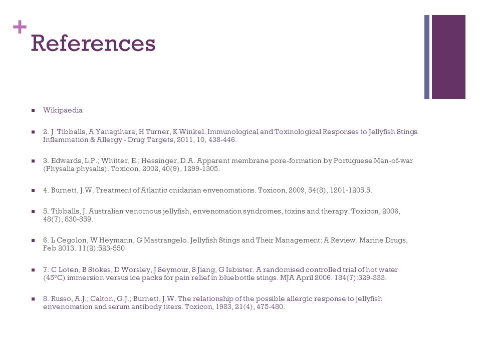 + References Wikipaedia 2.J Tibballs, A Yanagihara, H Turner, K Winkel.