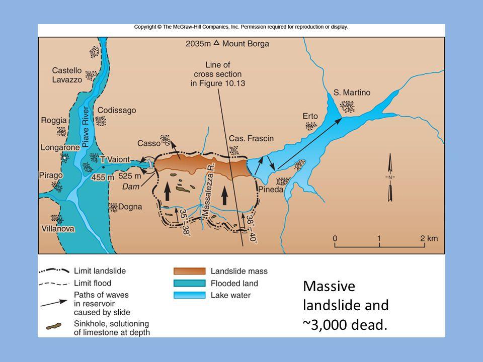 Massive landslide and ~3,000 dead.