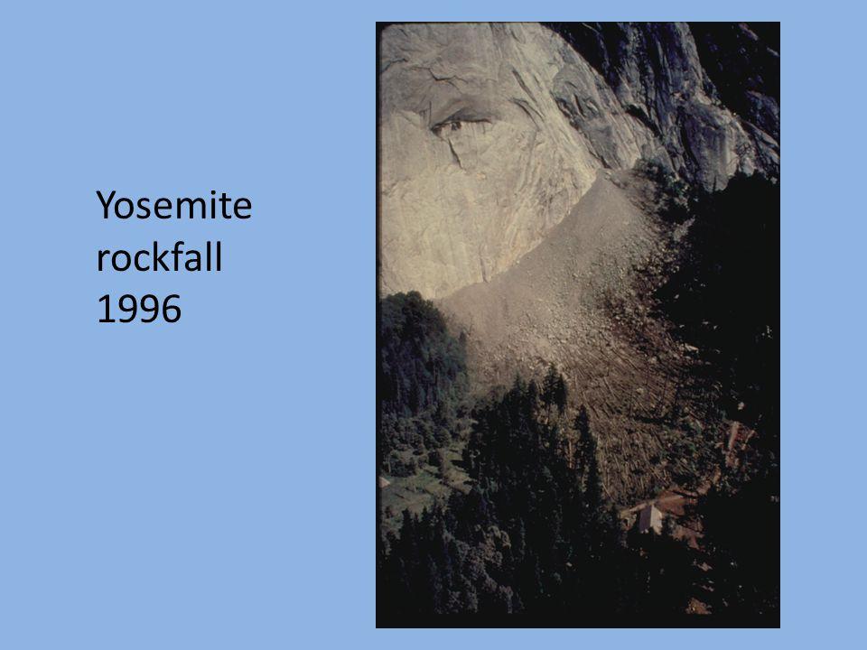 Yosemite rockfall 1996