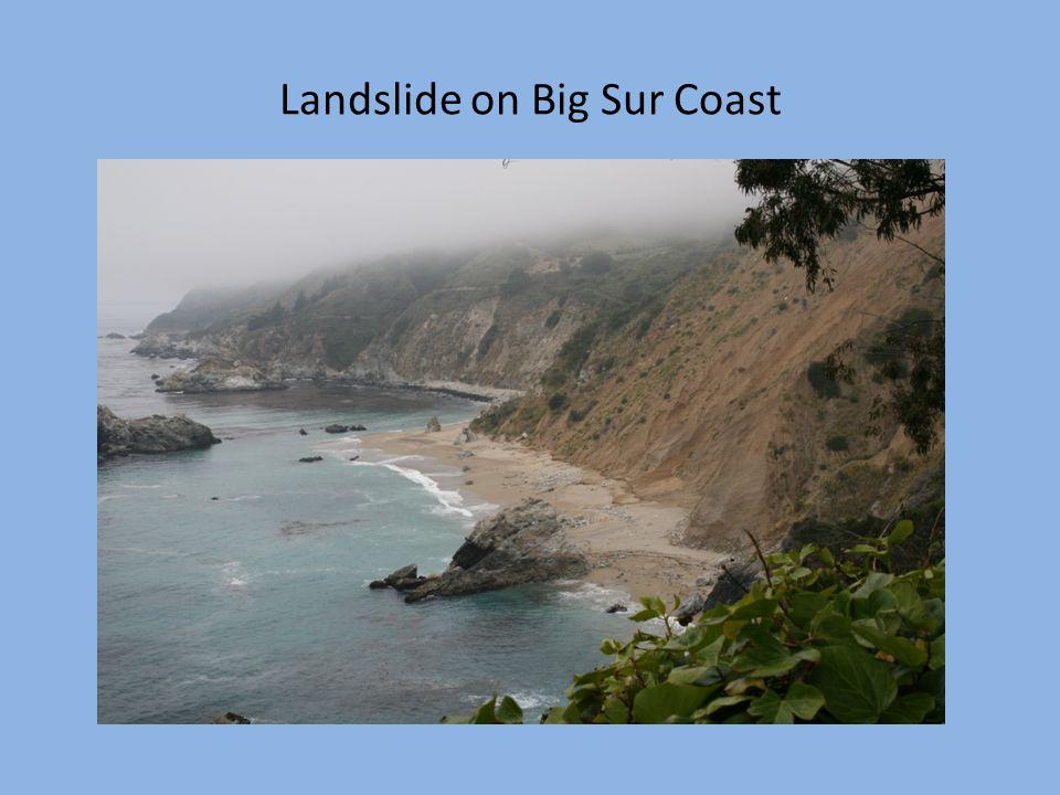 Landslide on Big Sur Coast