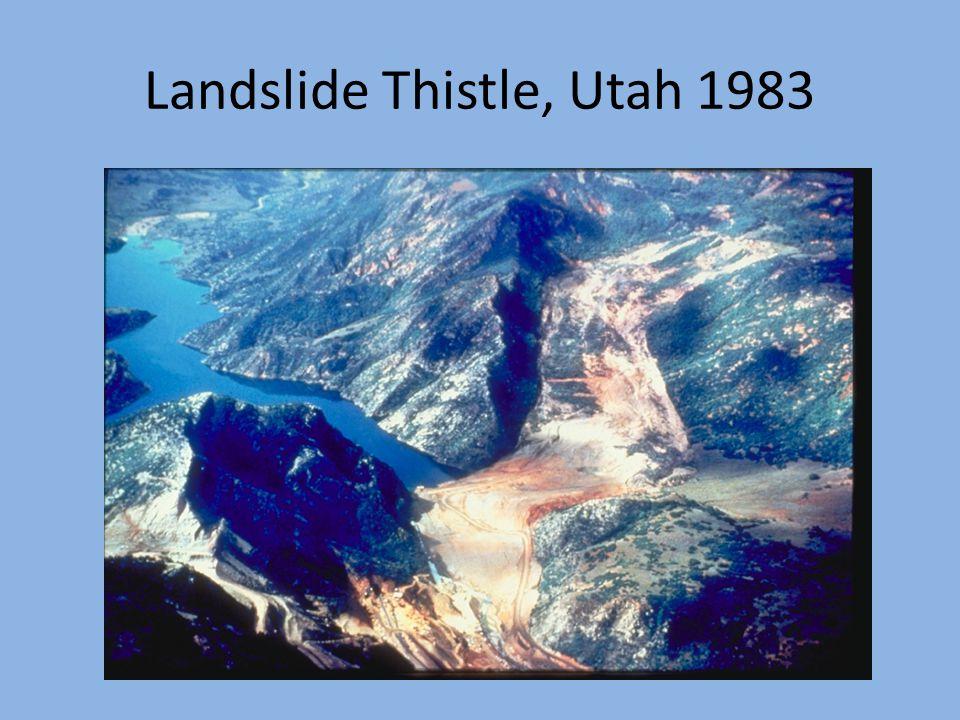 Landslide Thistle, Utah 1983
