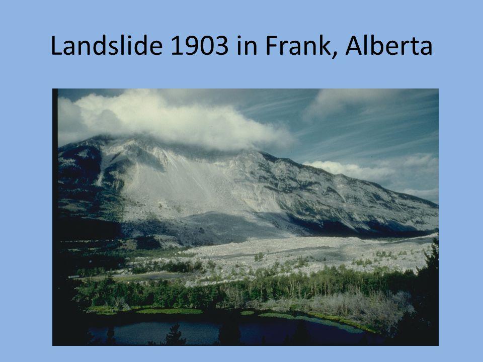Landslide 1903 in Frank, Alberta