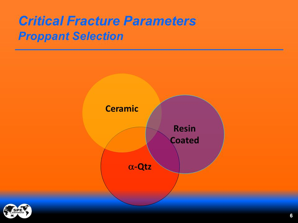 6 Critical Fracture Parameters Proppant Selection  -Qtz Ceramic Resin Coated