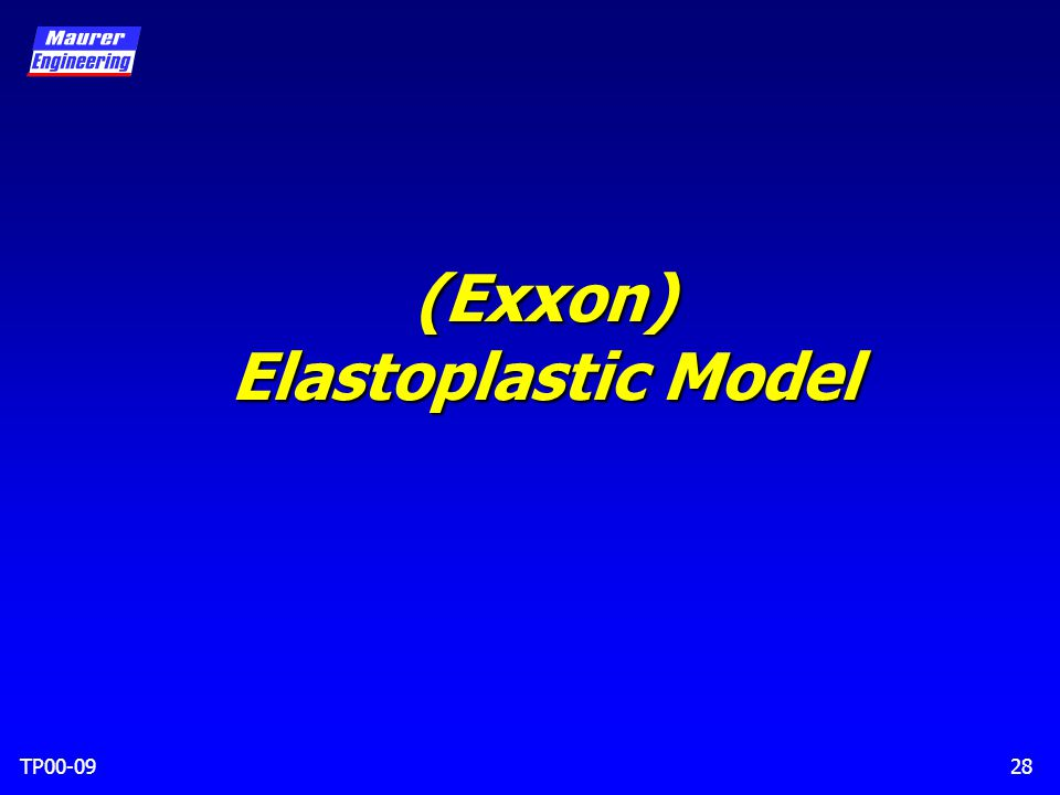 TP00-0928 (Exxon) Elastoplastic Model