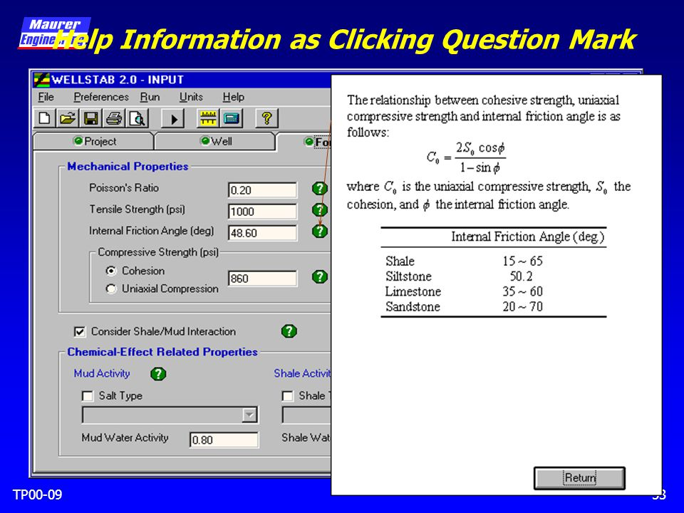 TP00-0953 Help Information as Clicking Question Mark