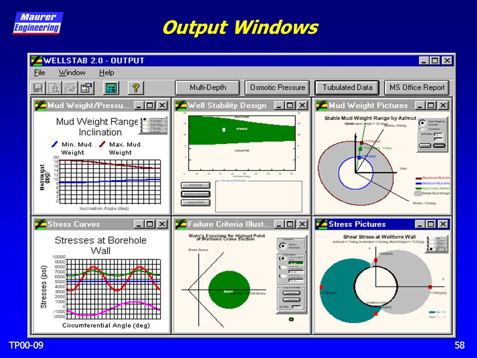 TP00-0958 Output Windows