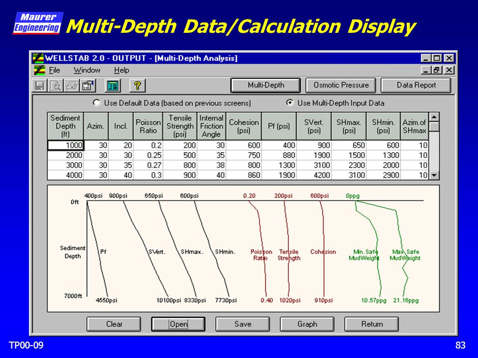 TP00-0983 Multi-Depth Data/Calculation Display