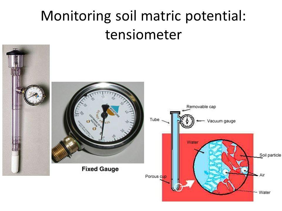 Monitoring soil matric potential: tensiometer