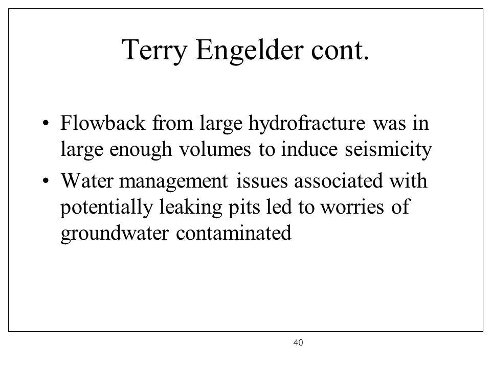 Terry Engelder cont.