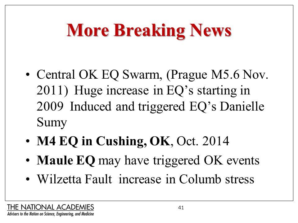 More Breaking News Central OK EQ Swarm, (Prague M5.6 Nov.
