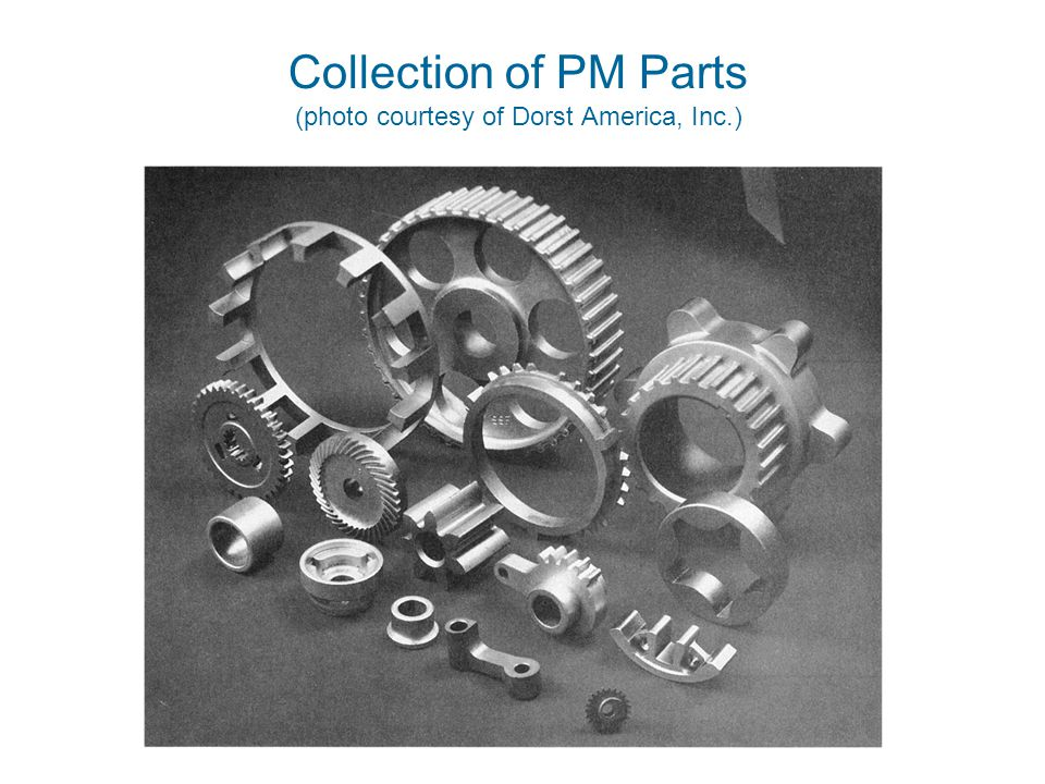 ©2010 John Wiley & Sons, Inc. M P Groover, Fundamentals of Modern Manufacturing 4/e Collection of PM Parts (photo courtesy of Dorst America, Inc.)