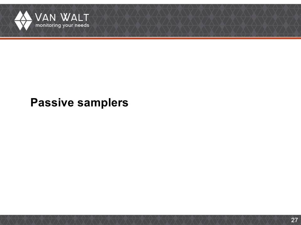 27 Passive samplers